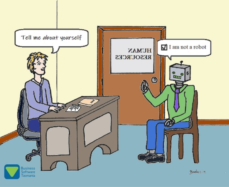 Do you want Artificial Intelligence or Emotional Intelligence in your business? I am not a robot cartoon